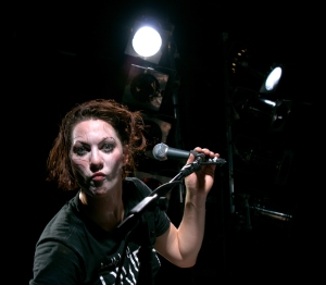 In one corner, we've got burlesque performer Amanda Palmer ...