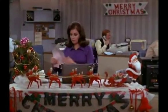 -There's no such thing as too many Christmas decorations at your desk. -- Mary Richards
