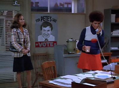 Very easily the worst episode of MTM precisely because it ISN'T an episode of MTM. At least the poster is clever.